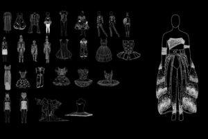 Couturiers de la Danse, plus de 130 dessins de costumes 130 dessins de costumes