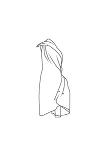 Dessins d'après le costume de Issey Miyake pour THE SECOND DETAIL