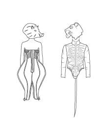 """""""A la Rochelle..."""" d'après les costumes de Jean Paul Gaultier"""