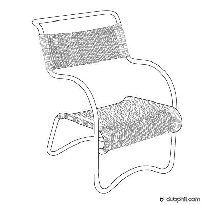 Fonctionnalisme, fauteuil tubulaire de Jean Burkhalter