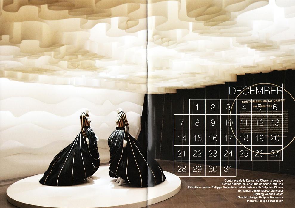 """Calendrier """"Procédés Chenel"""" mois de décembre, photo Dubessay Philippe"""