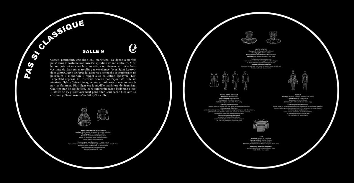 """""""Couturiers de la danse"""" cartel salle 9"""