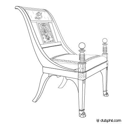 Empire, le fauteuil d'officier