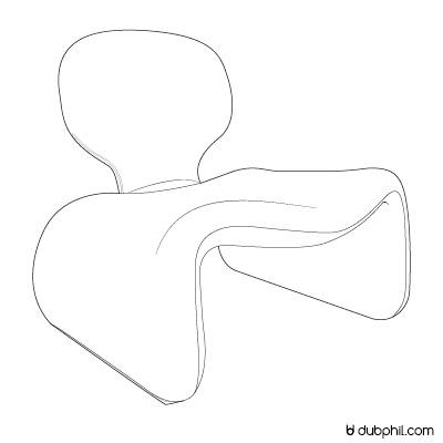 Epoque Morderne, le fauteuil Djinn d'Olivier Mourgue