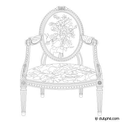 Louis XVI Marie Antoinette, Le fauteuil à la reine
