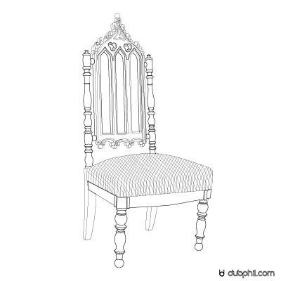 """Monarchie de Juillet, la chaise """"à la cathédrale"""""""