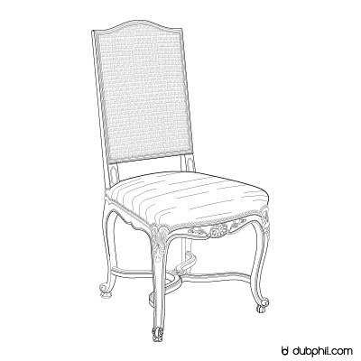 Régence, La chaise Cannée