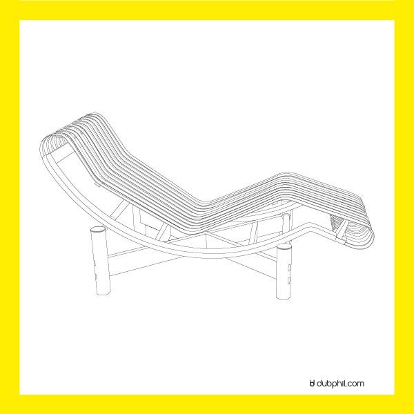 Fonctionnalisme, La longue chaise de Charlotte Perriand