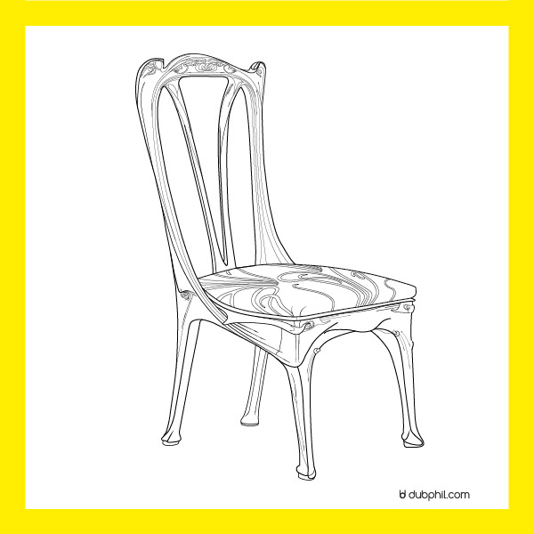 Art Nouveau, La chaise d'Hector Guimard