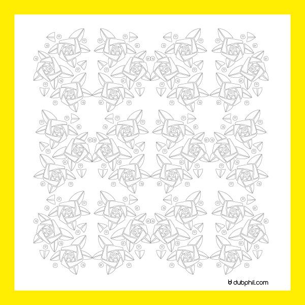 Art Déco, motif fleurs stylisées