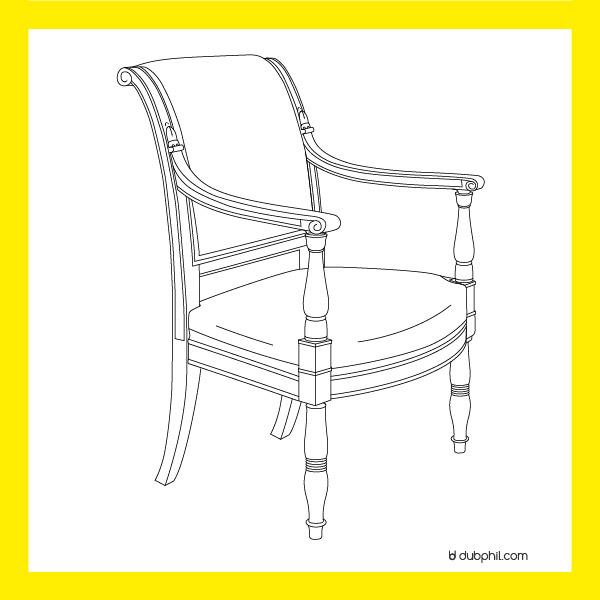 Le Directoire, le fauteuil en acajou