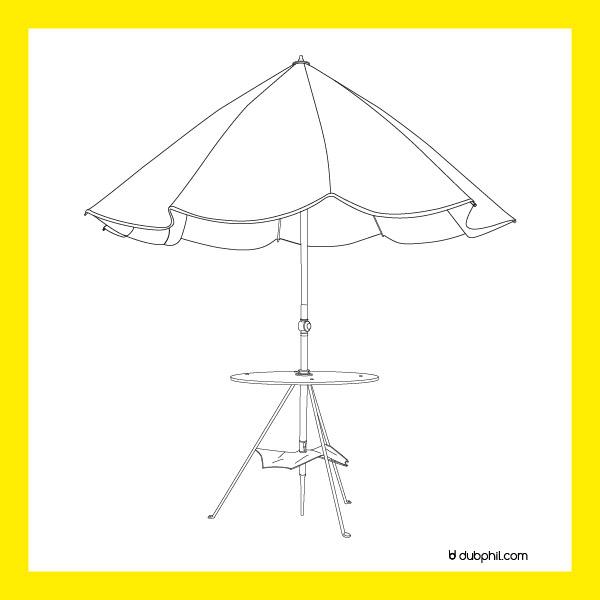 Empire, parasol de campagne
