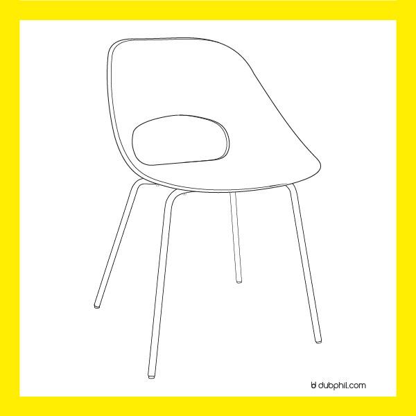 Epoque Morderne, la chaise tulipe de Pierre Guariche