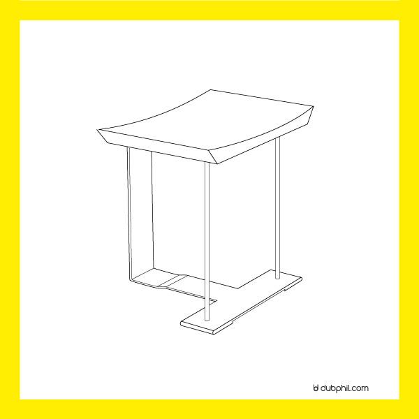 """Fonctionnalisme, le tabouret """"T"""" de Pierre Chareau"""