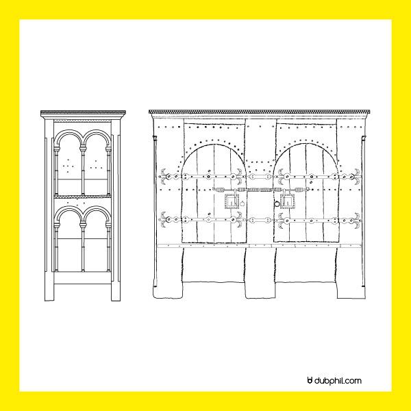 Gothique, l'armoire liturgique d'Aubazine