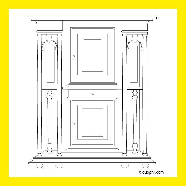 Renaissance, le dressoir du cerceau