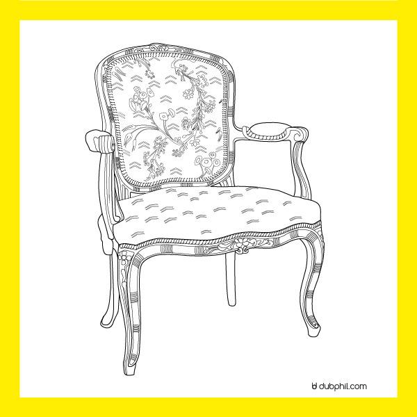 Louis XV, Le fauteuil à la reine
