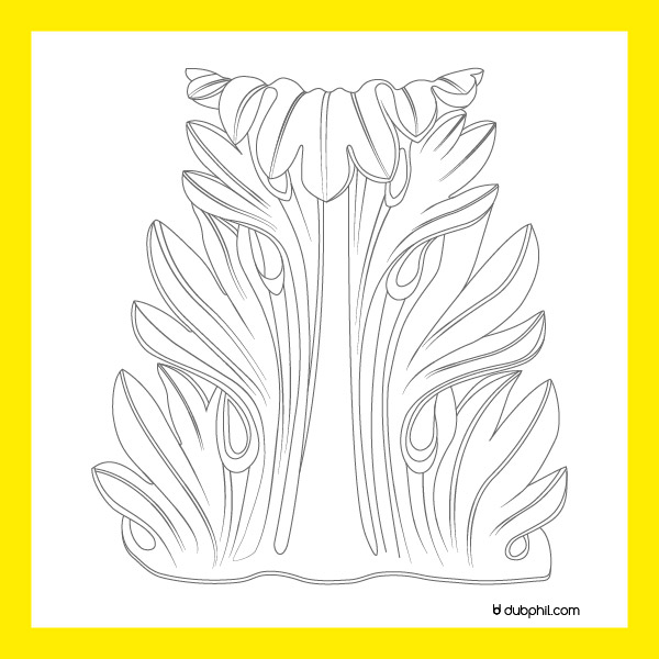 Renaissance, motif décoratif à feuille d'acanthe