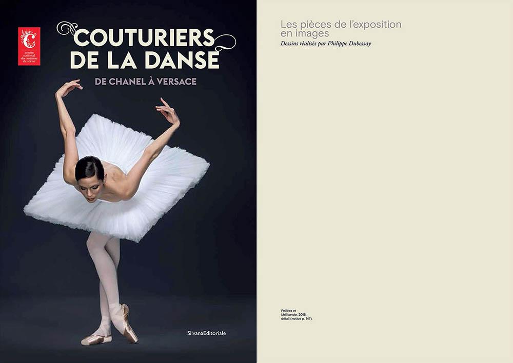 """Extrait du catalogue """"Couturiers de la Danse"""" Couverture et page 135"""