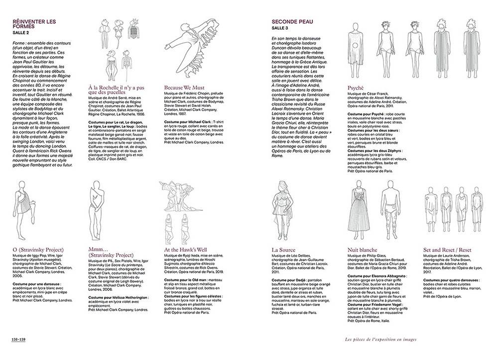 """Extrait du catalogue """"Couturiers de la Danse"""" page 138 et 139"""