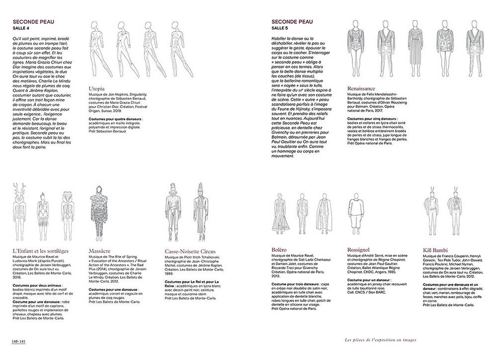 """Extrait du catalogue """"Couturiers de la Danse"""" page 140 et 141"""