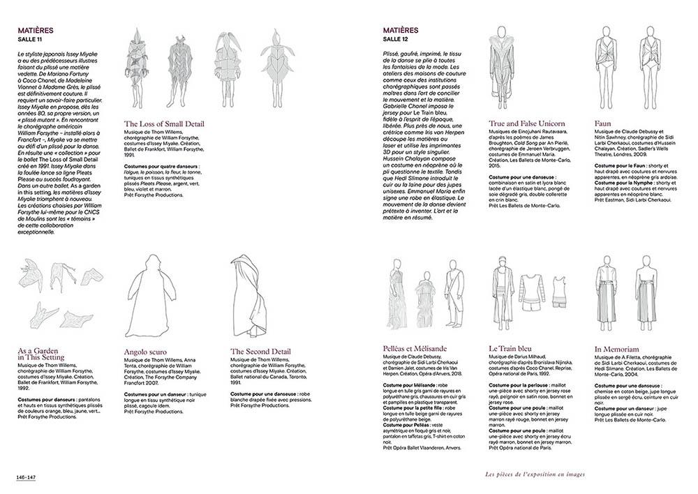 """Extrait du catalogue """"Couturiers de la Danse"""" page 146 et 147"""