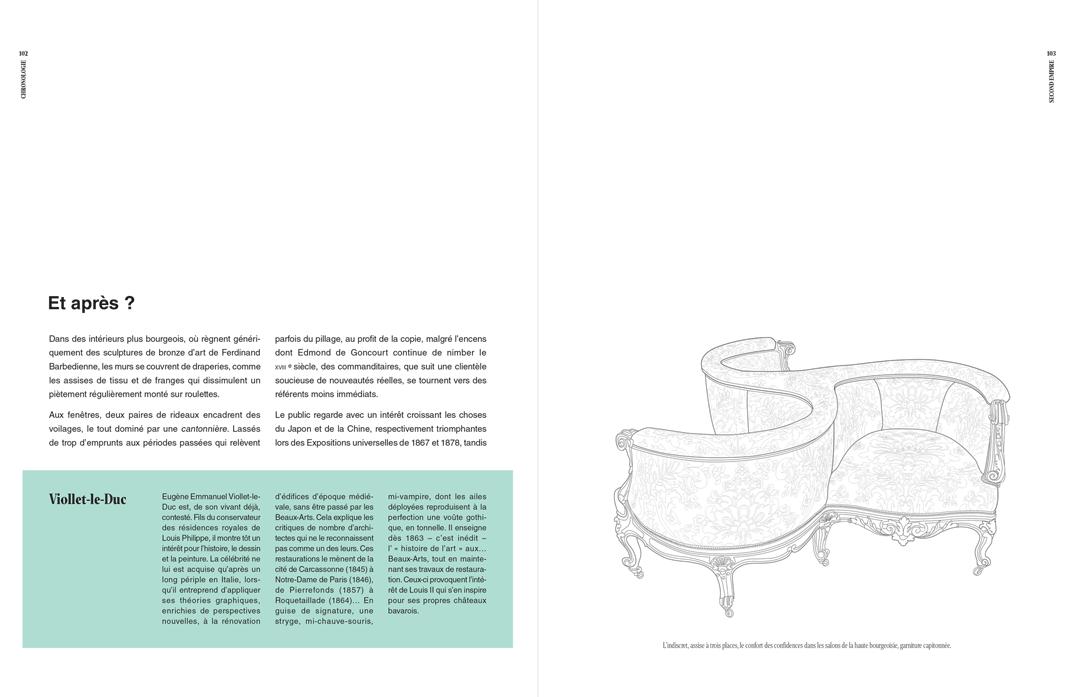 Texte, encadré et dessin aux traits, p 102 et 103