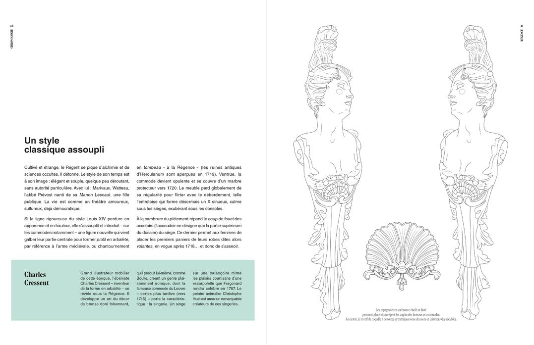Dessins aux traits, pleine page,p 40 et 41