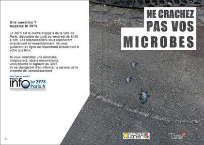Ne crachez pas vos microbes