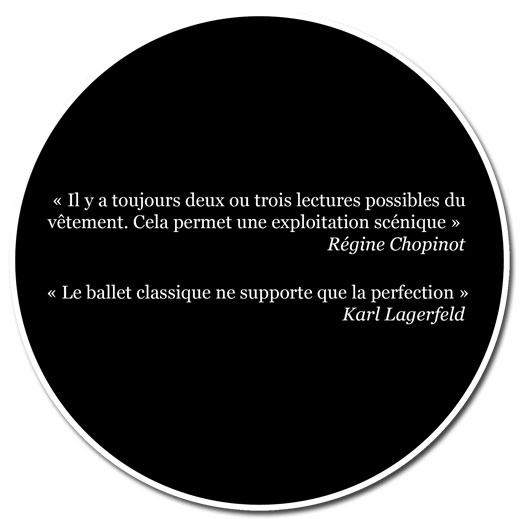 Citations : Règine Chopinot, karl Lagarfeld